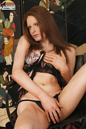 British Tgirl Liberty Harkness on Shemale Yum!