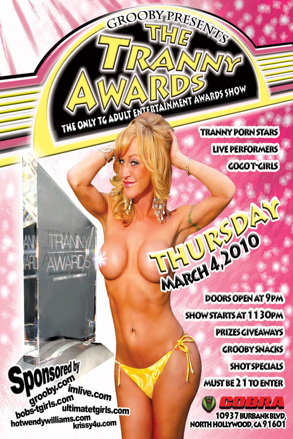 trannyawards flyer How About A Hop Across The Pond For The 2009 Tranny Awards Ceremony?