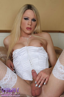 t karla cox shemale club 03 British Tgirl Karla Cox Lookin Lovely In White On Shemale Club!