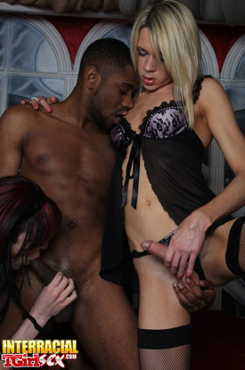 t karla libby itgs 02 British Tgirls Karla And Libby With Darnel On Interracial Tgirl Sex!