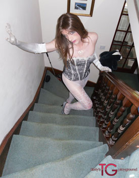 t kirstystgplayground stair 01 British Tgirl Kirsty Gets Sexy On The Stairs At Kirstys TG Playground!