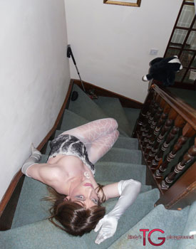 t kirstystgplayground stair 02 British Tgirl Kirsty Gets Sexy On The Stairs At Kirstys TG Playground!