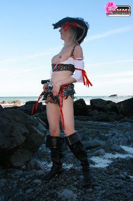 t sammi valentine pirate 03 Looting The British Seas With British Tgirl Sammi Valentine!