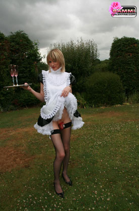 t sammivalentine sissy shemale frenchmaid043 British Tgirl Sammi Valentine Confined To Please!