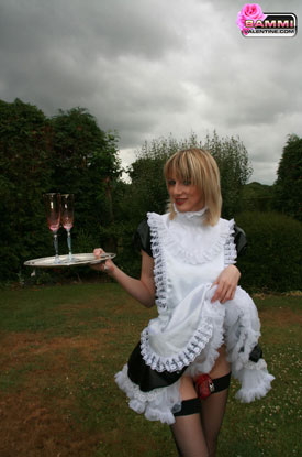 t sammivalentine sissy shemale frenchmaid047 British Tgirl Sammi Valentine Confined To Please!