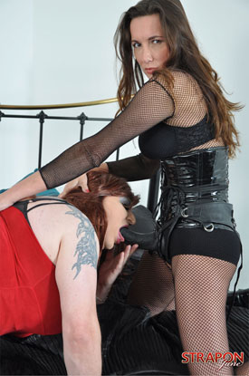 Strap-On Jane - Red Corset!