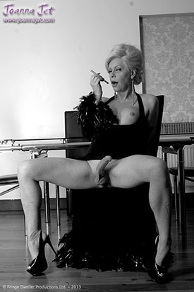 t joanna jet retro 02 Retro Pics With British Tgirl Joanna Jet In Black And White!