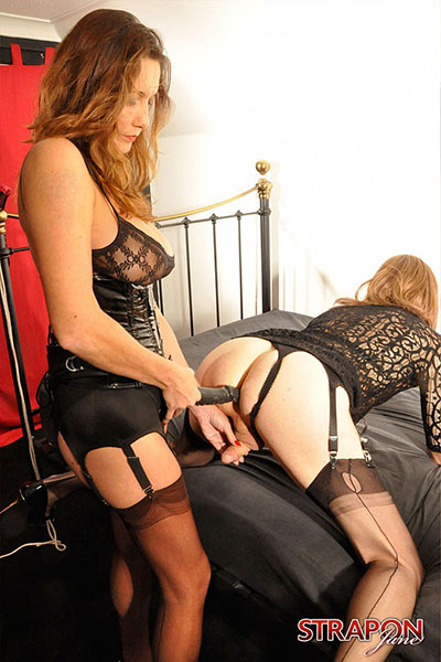 t british tgirls strapon jane 03 British Tgirl Emily Gets Fucked By Strap On Janes Cock!