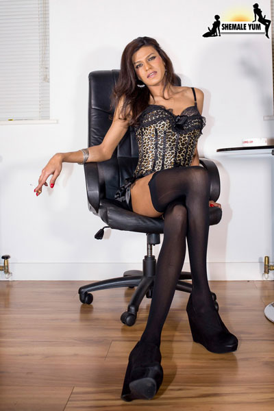 t british tgirls exotica kareena 01 British Tgirl Exotica Kareenas Long Legs On Shemale Yum!